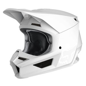 Casque Cross Fox V1 - Matte - White 2019