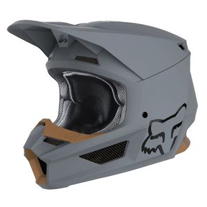 Casque Cross Fox V1 - Matte - Stone 2019