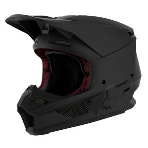 Casque cross V1 - MATTE - BLACK 2019 Noir mat