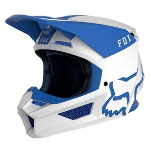 Casque Cross Fox V1 - Mata - Blue White 2019