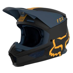 Casque Cross Fox V1 - Mata - Navy Yellow 2019