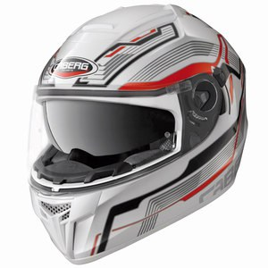 Casque EGO STREAMLINE  Blanc/Rouge