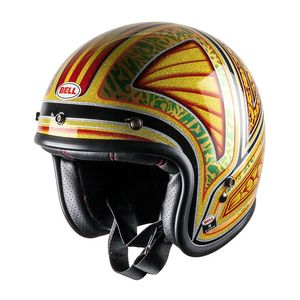 Casque CUSTOM 500 - TAGGER FLASHBACK  Jaune