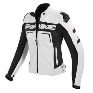 Blouson EVORIDER LEATHER LADY  Blanc/Noir