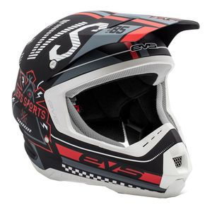 Casque cross T5 RALLY BLACK WHITE RED  2017 Noir/Blanc/Rouge