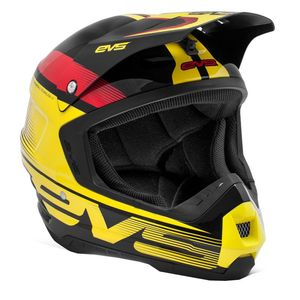 Casque cross T5 VAPOR BLACK YELLOW RED  2017 Noir/Jaune/Rouge
