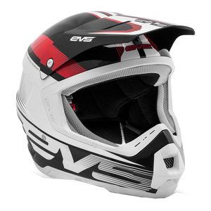 Casque cross T5 VAPOR BLACK WHITE RED  2017 Noir/Blanc/Rouge