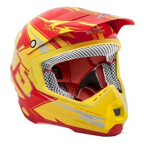 Casque cross T5 BOLT YELLOW RED  2017 Jaune/Rouge