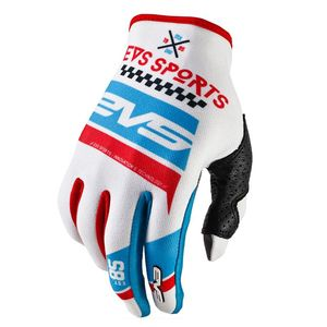 Gants cross RALLY WHITE BLUE RED  2017 Blanc/Bleu/Rouge