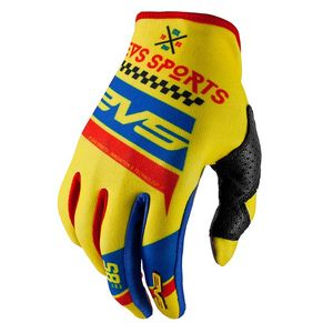 Gants cross EVS RALLY YELLOW BLUE RED  2017