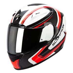 Casque EXO-2000 EVO AIR - CARB PEARL WHITE - NEON RED  Blanc/Rouge/Noir