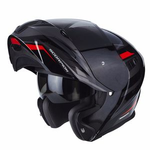 Casque EXO-920 - SHUTTLE  Black Silver Red