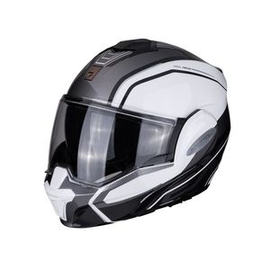 Casque EXO-TECH - TIME OFF  Pearl White Silver