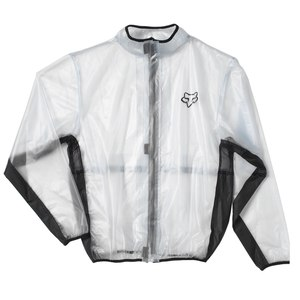 Veste de pluie MX YOUTH FLUID - CLEAR  Noir