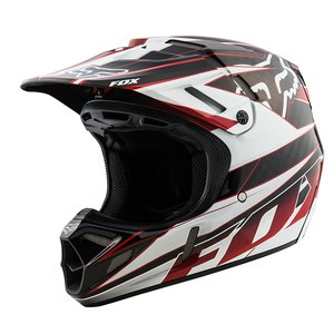 Casque Cross Fox Destockage V4 Race Black/red 2015