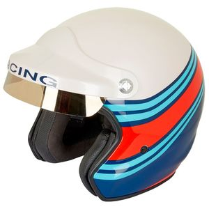 Casque ST520 RACING  Blanc/Bleu/Rouge