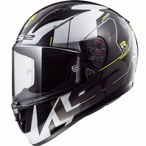 Casque Ls2 Ff323 Arrow R Evo Techno Black White