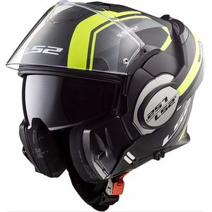 Casque FF399 - VALIANT - LINE MATT  Matt Black / H-V Yellow