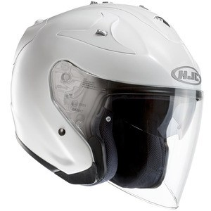 Casque FG JET - METAL  Blanc