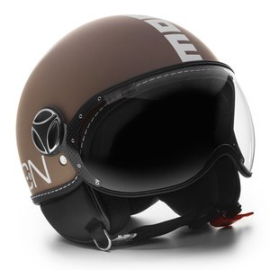 Casque FIGHTER CLASSIC MAT  Marron/Blanc