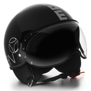 Casque FIGHTER CLASSIC BRILLANT  Noir/Argent