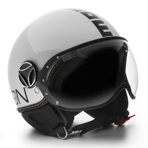 Casque FIGHTER EVO BRILLANT  Blanc/Noir
