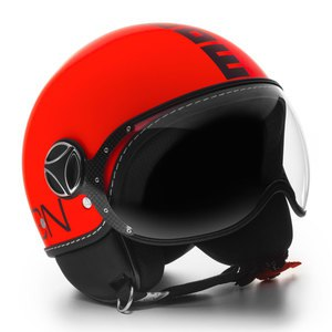 Casque FIGHTER FLUO  Orange fluo/Noir