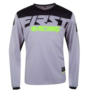 Maillot cross DATA EVO - GREY BLACK FLUO 2021 Grey Black Fluo