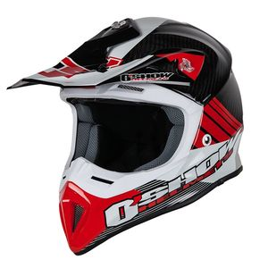Casque cross O'SHOW CARBON C4-S RED / BLACK 2018 Red/Black