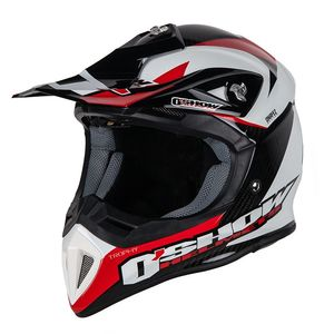 Casque cross O'SHOW CARBON TROPHY WHITE / BLACK 2018 White/Black