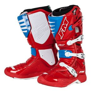 Bottes Cross Fm Racing Typhoon Ii Red Cyan 2018