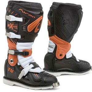 Bottes cross TERRAIN TX - NOIR ORANGE BLANC 2020 Noir Orange Blanc