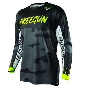 Maillot cross DEVO CAMO KID - NEON YELLOW  Black