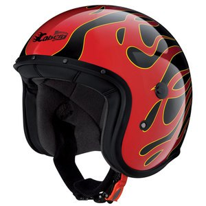 Casque FREERIDE FLAME  Noir/Rouge