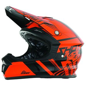 Casque Cross Shot Destockage Furious Claw Neon Orange 2017