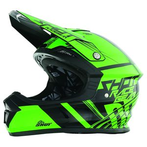 Casque Cross Shot Destockage Furious Claw Neon Vert Enfant 2017
