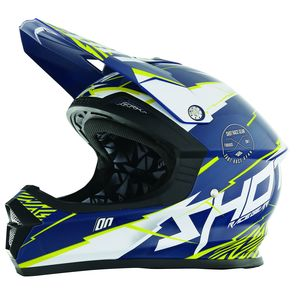 Casque Cross Shot Destockage Furious Infinity Bleu Jaune 2017