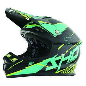 Casque cross FURIOUS INFINITY MINT LIME  2017 Vert
