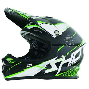 Casque Cross Shot Destockage Furious Infinity Vert 2017