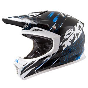 Casque cross FURIOUS CAPTURE NOIR BLEU BRILLANT   Noir/Bleu