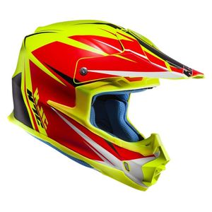Casque cross FX - AXIS 2019 Rouge/Jaune
