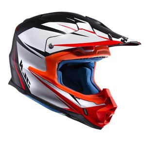 Casque cross FX - AXIS 2019 Blanc/Noir/Orange