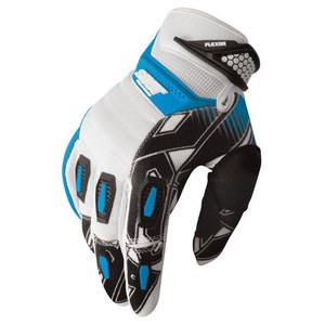 Gants Cross Shot Destockage Flexor Impact Blanc Bleu 2013