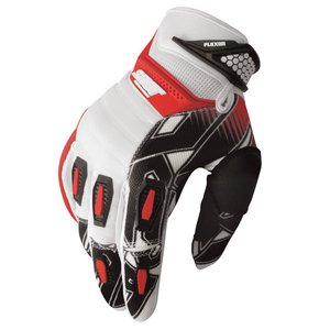 Gants Cross Shot Destockage Flexor Impact Blanc Rouge 2013