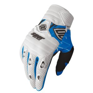 Gants Cross Shot Destockage Contact Live Blanc Bleu