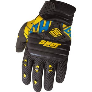 Gants Cross Shot Destockage Contact Live Noir Jaune Bleu 2013