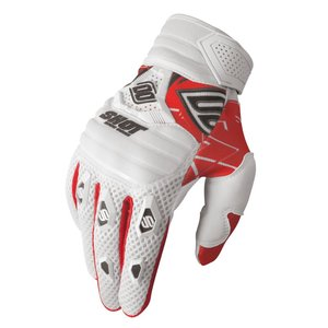 Gants cross CONTACT LIVE BLANC ROUGE   Blanc/Rouge