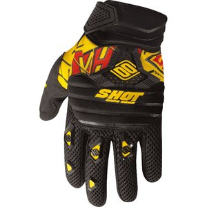 Gants Cross Shot Destockage Contact Live Noir Jaune 2013