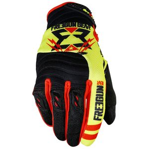 Gants Cross Shot Destockage Contact Trooper Neon Jaune Rouge 2017