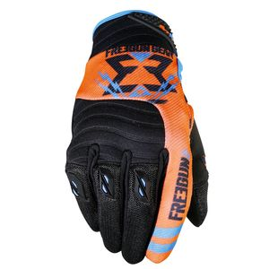 Gants cross CONTACT TROOPER NEON ORANGE CYAN  2017 Orange/Bleu